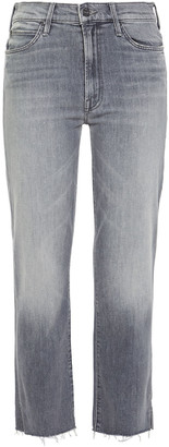 Mother The Rascal Cropped High-rise Straight-leg Jeans