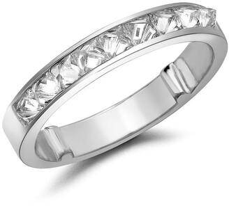 Pragnell 18kt white gold RockChic diamond half-eternity ring