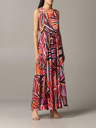 Emilio Pucci Long Dress In Printed Chiffon