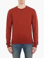 Maison Margiela Rust Cotton Sweatshirt