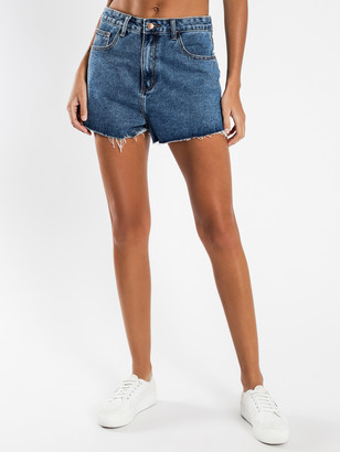 Glamorous Denim Shorts in Light Blue