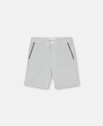 Stella Mccartney Kids Seersucker Suit Shorts, Men's
