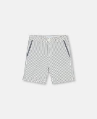 Stella Mccartney Kids Stella McCartney seersucker suit shorts