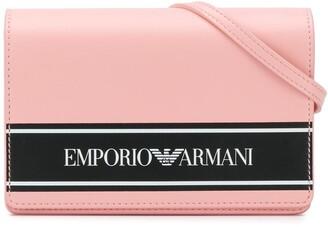 Emporio Armani Kids logo print shoulder bag