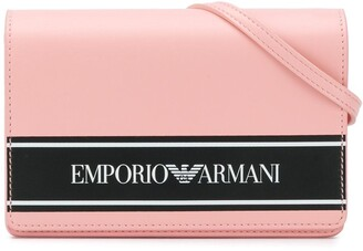 Emporio Armani Kids Logo Print Shoulder Bag