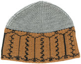 Lanvin patterned beanie hat