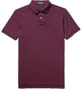 Polo Ralph Lauren Slim-fit Cotton-piqué Polo Shirt - Burgundy