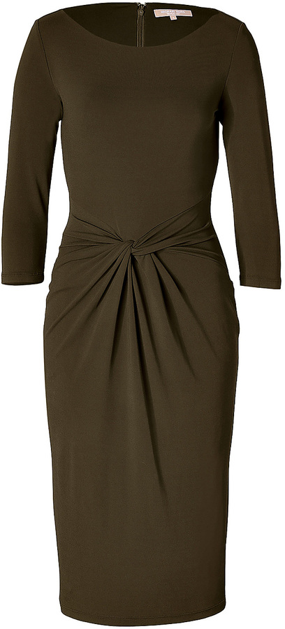Michael Kors Twist Front Dress in Olive