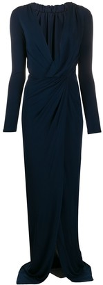 DSQUARED2 Embellished-Back Twisted-Waist Maxi Dress