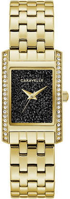 Caravelle Women Gold-Tone Stainless Steel Bracelet Watch 21x33mm