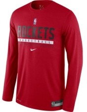 Nike Men's Houston Rockets Practice Long-Sleeve T-Shirt