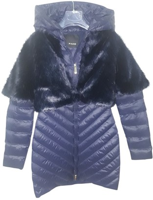 Pinko Blue Faux fur Coat for Women