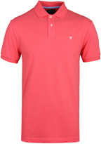 Hackett Classic Bright Coral Short Sleeve Pique Polo Shirt