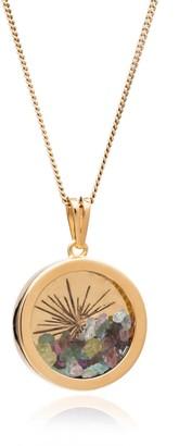 Rachel Jackson London Sunburst Birthstone Amulet Necklace Gold October