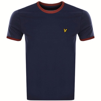 Lyle & Scott Ringer Crew Neck T Shirt Navy