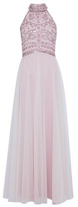 Dorothy Perkins Womens Showcase Blush Bridesmaid Eleanor Enamel Maxi Dress