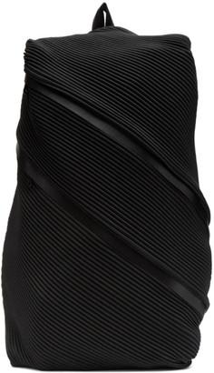 Pleats Please Issey Miyake Black Bias Pleats Backpack