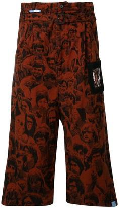 Maison Mihara Yasuhiro Face Print Trousers