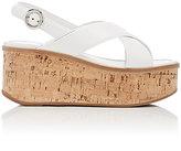 Prada Women's Platform Wedge Sandals-WHITE