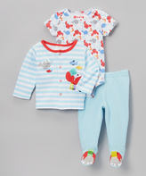 Taggies Blue & Red Crab Outfit Set - Infant