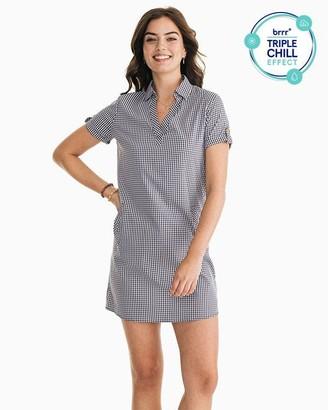 Southern Tide Kamryn brrr Intercoastal Gingham Shirt Dress