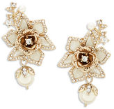 Marchesa Floral Faux Pearl-Accented Earrings