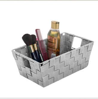 Simplify Small Woven Storage Shelf Bin in Gray