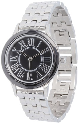 Steel By Design Stainless Steel Panther Link Watch with CeramicAccent