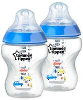 Tommee Tippee Closer to Nature® 2-Pack 9-Ounce Deco Baby Bottle in Blue