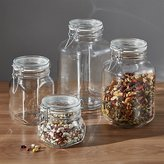 Crate & Barrel Set of 4 Fido Jars with Clamp Lids