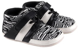 Robeez Mason Knit & Leather Sneaker