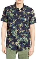 Scotch & Soda Tropical Print Slim Fit Shirt