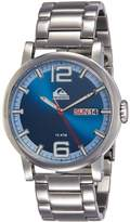 Quiksilver Men's QS/1011DBSV THE SENTINEL Day/Date Function Silver-Tone Bracelet Watch