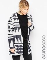 Asos Premium Wool Geo Jacquard Jacket