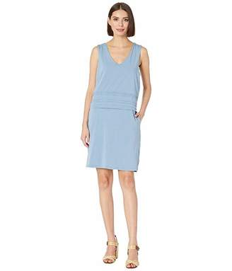 Mod-o-doc Tank Dress with Pintuck Overlay in Cotton Modal Spandex Jersey