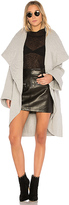 Norma Kamali Shawl Collar Coat in Gray. - size L (also in M,S,XS)