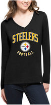 '47 Women's Pittsburgh Steelers Splitter Arch Long-Sleeve T-Shirt