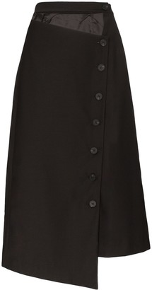 Low Classic Asymmetric Cut-Out Midi Skirt