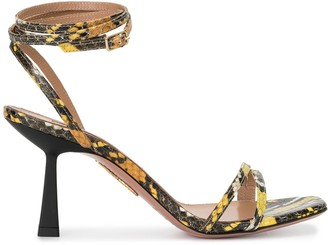 Aquazzura Snakeskin-Effect 75mm Sandals