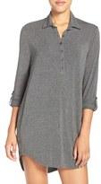 PJ Salvage Women's Jersey Henley Night Shirt
