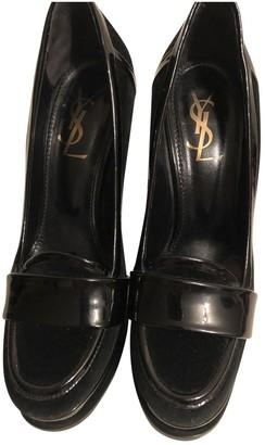 Saint Laurent Black Patent leather Espadrilles