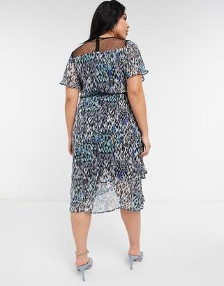Koko midi dress in animal print