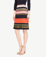 Ann Taylor Fluted Striped Skirt