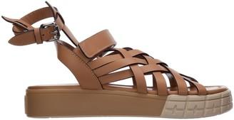 Prada Thunderbolt Fair-isle Sandals