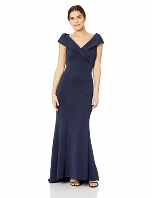 Jessica Howard JessicaHoward Women's Sleeveless Portrait Collar Gown