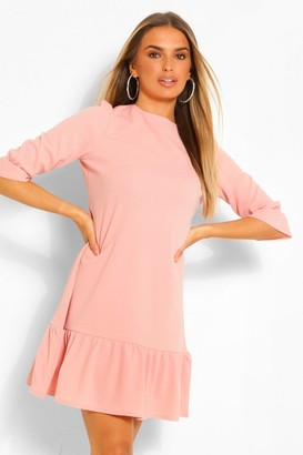 boohoo 3/4 Drop Hem Shift Dress