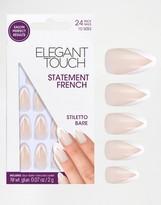 Elegant Touch Statement French False Nail - Stiletto Bare