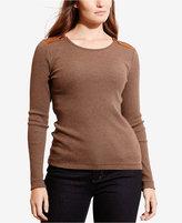 Lauren Ralph Lauren Plus Size Zip-Shoulder Shirt