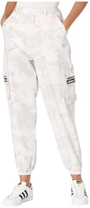 adidas Camo Logo Pants (Chalk White/Light Granite/Grey/Desert Pink) Women's Casual Pants