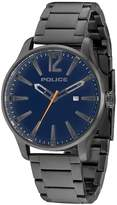 Police Dallas Blue Dial Date Feature Grey Stainless Steel Bracelet Mens Watch